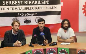 Gemeinsame Pressekonferenz der Baugewerkschaften Istanbul am 28.9.2018