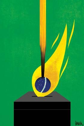 Brasilien: Wahlplakat von 2018 gegen Bolsonaro