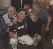 Besuch beim LabourNet Germany von 3 japanischen GewerkschafterInnen im August 2018, hier am Abend in Bochum