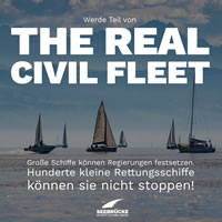 "MISSION LIFELINE] Die Aktion ""The Real Civil Fleet"" - Seenotrettung für Jedermann"