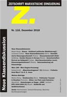 Z. Zeitschrift marxistische Erneuerung Nr. 116 vom Dezember 2018