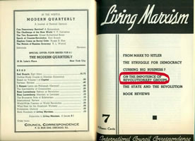 "Faksimile ""Living Marxism"" Nr. 7 (1939)"