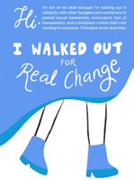 """""""Google Walkout For Real Change"""""""