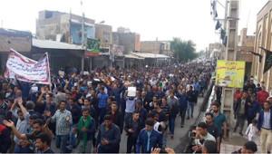 Demonstration streikender iranischer Zuckerarbeiter 18.11.2018