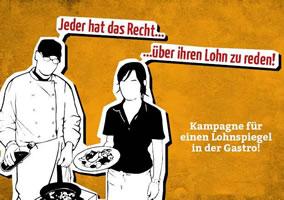 """Kampagne """"Lohnspiegel-Gastro"""" der FAU Freiburg"""