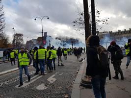 Foto von Bernard Schmid der Demo in Paris am 24.11.2018