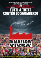 Solidaritätsplakat mit rimaflow gegen Räumung am 28.11.2018