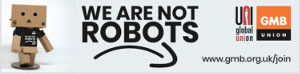 """We are no robots"" - UNI bei Amazon"