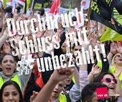 #unbezahlt - Kampagne für Ausbildungsvergütung der ver.di-Jugend
