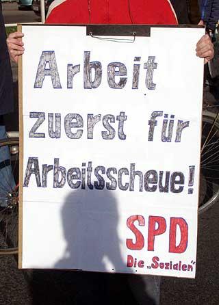 """SPD: """"Arbeit zuerst für Arbeitsscheue"""" (Foto: umbruch-bildarchiv)"""