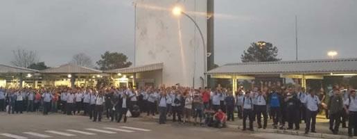 Proteste gegen die GM-Pläne am 6.12. in Sao Jose dos Campos (Brasilien)