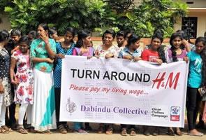 2018: H&M BekleidungsfabrikarbeiterInnen in Sri Lanka protestieren gegen unzureichende Löhne