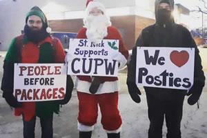 Solidarität mit streikenden Postarbeitern in Kanada 2018