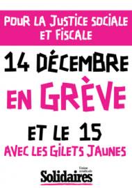 Frankreich (SUD): Erhöhung der Mindestlohns - Macrons Nepp / Streiktag am 15.12.2018 / Demos am 16.12.2018