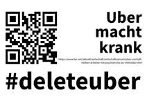 Anti-Uber-Parolen der Berliner Taxi-AG