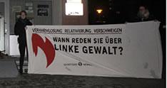 """""""Identitäre Bewegung"""": Rechtsextreme bekleben Redaktionsgebäude und Parteibüros - gegen """"linke Gewalt"""""""
