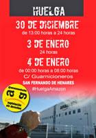 Zum Top-Verkaufstag 6. Januar: Zwei Tage Streik bei Amazon in Madrid