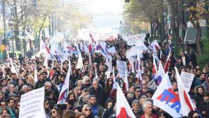 Die Lehrerdemonstration in Athen am 16.1.2018 für Festanstellugen war auch bemerkenswert, weil erstmals seit langem alle betroffenen Gewerkschaften gemeinsam agierten