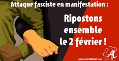 """Frankreich: anarchistischer Protest gegen Faschos bei der Demo der """"gelben Westen"""""""
