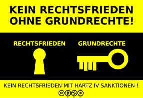 Kein Rechtsfrieden ohne Grundrechtsschutz! Grafik von Maurice Ziegler