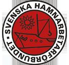 Logo der oppositionellen schwedischen Hafenarbeitergewerkschaft SDU im Streik im Januar 2019