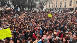 Die Streikkundgebung der Maquilabeschäftigten in Nordmexiko am 20.1.2019 in Matamoros