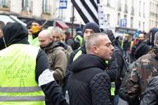 Foto von Bernard Schmid der Demo in Paris am 12.1.2019