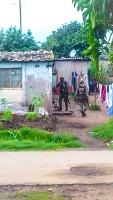 Zimbabwes Armee auf der Suche nach Streikorganisatoren am 14.1.2019