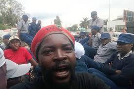 Streikmobilisierung der Gewerkschaft der ländlichen Schulen Simbabwes - am ersten Streiktag, 5.2.2019, erfolgreich