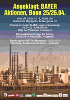 Bündnis-Aufruf zum Protest gegen die BAYER-HV 2019