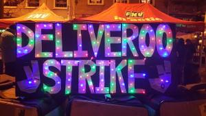 Streikplakat Deliveroo