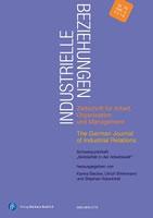 """Sonderheft der Zeitschrift """"Industrielle Beziehungen"""" (Jg. 25, Heft 4): """"Solidarität in der Arbeitswelt"""""""