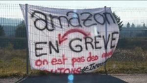 Politische Entlassungen bei Amazon Frankreich gegen Gelbwesten - Streik dagegen in Montelimar am 5.2.2019