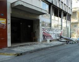Eines der sozialen Zentren in Athen, die vor allem seit 2016 von Combat18 Banden bedroht werden