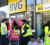 Warnstreik der Berliner S-Bahn im Fenruar 2019