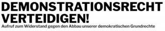 Demonstrationsrecht verteidigen!