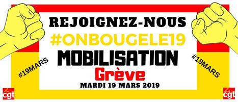 Aufruf der CGT zum sozialen Streik am 19. März 2019 in Frankreich