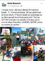 Protestplakat gegen Todesschüsse der haitianischen Polizei am 7.2.2019