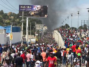 Am 7.2.2019 in der Hauptstadt Haitis fand die grösste der zahlreichen Demonstrationen für den Rücktritt des Präsidenten Moise statt