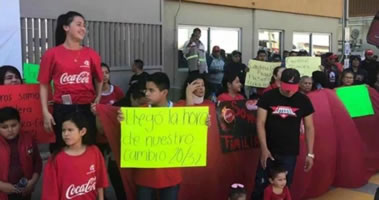 Streik bei Coca Cola Matamoros in Mexiko Ende Februar 2019