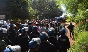 Räumung in Paraguay im März 2019: Immer wieder ohne Gerichte - die Polizei macht es selbst. Ist zwar gegen die Verfassung, aber üblich