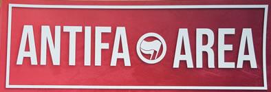 Aufkleber der  Antifa Altona Ost: Antifa Area