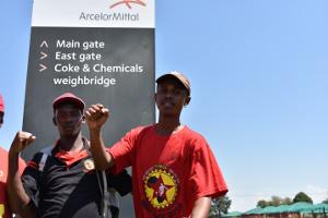 Am 12.3.2019 begann der Streik der Metallgewerkschaft NUMSA bei Arcelor Südafrika - gegen Leiharbeit auf drei Jahre
