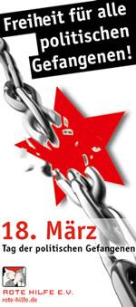 Rote Hilfe zum 18.3.2019: Freiheit für alle politischen Gefangenen