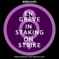 Gemeinsames Plakat von Fraunegruppen und Gewerkschaften zum ersten Frauenstreiktag in belgien am 8.3.2019