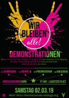 Mit diesem Plakat mobilisierten zahlreiche Berliner linke Projekte gegen Verdrängung zur Demonstration am 2.3.2019