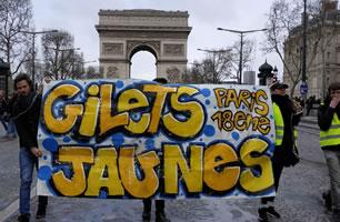 """""""Gelbwesten""""-Protest in Frankreich im März 2019, Foto von Bernard Schmid"""