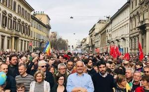 200.000 Menschen bei der Anti-Rassismus Demonstration in Mailand am 2.3.2019: Und nun?