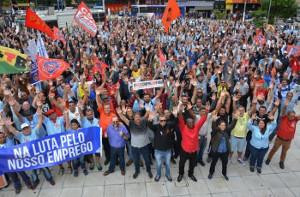 Die Metallarrbeiter von Sao Paulo in jedem gewerkschaftlichem Kampf eine entscheidende Kraft: Am 22.3.2019 gegen Bolsonaros rentenreform massive Beteiligung