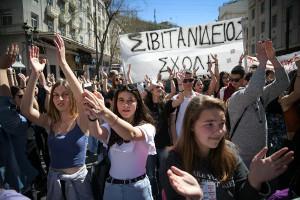 Schuldemo gegen neues Bildungsgesetz in athen: Gegen die Syriza-Regierung auf den Beinen